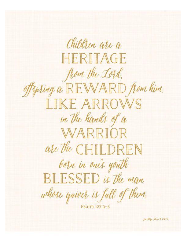 Psalm 127:3-5 Print