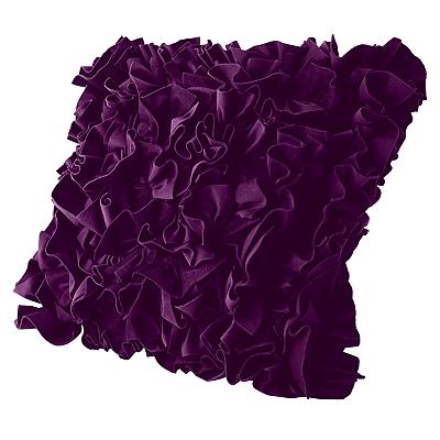 purple throw pillows for bed. 1 silk, 1 fleece- two textures and tones