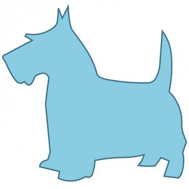 Scottie dog applique.