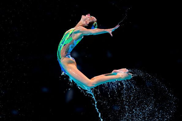 Great Britain compete during the Synchronized Swimming Team Free Final on day seven of the 15th FINA World Championships at Palau Sant Jordi on July 26, 2013 in Barcelona, Spain.
