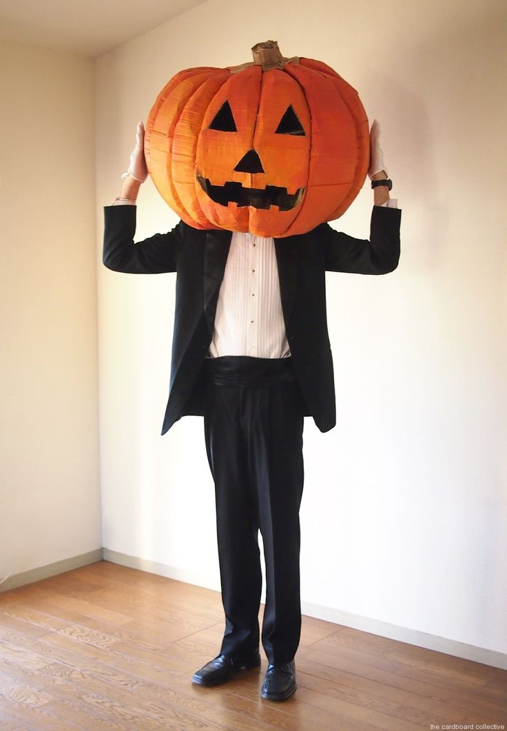 The Cardboard Collective: Giant Cardboard Pumpkin Head ...