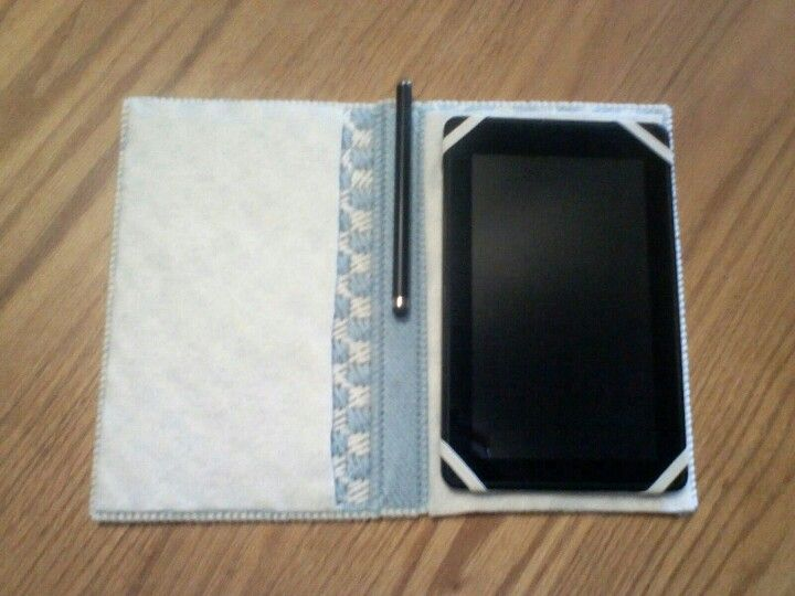 Kindle case me and my mom made out of plastic canvas
