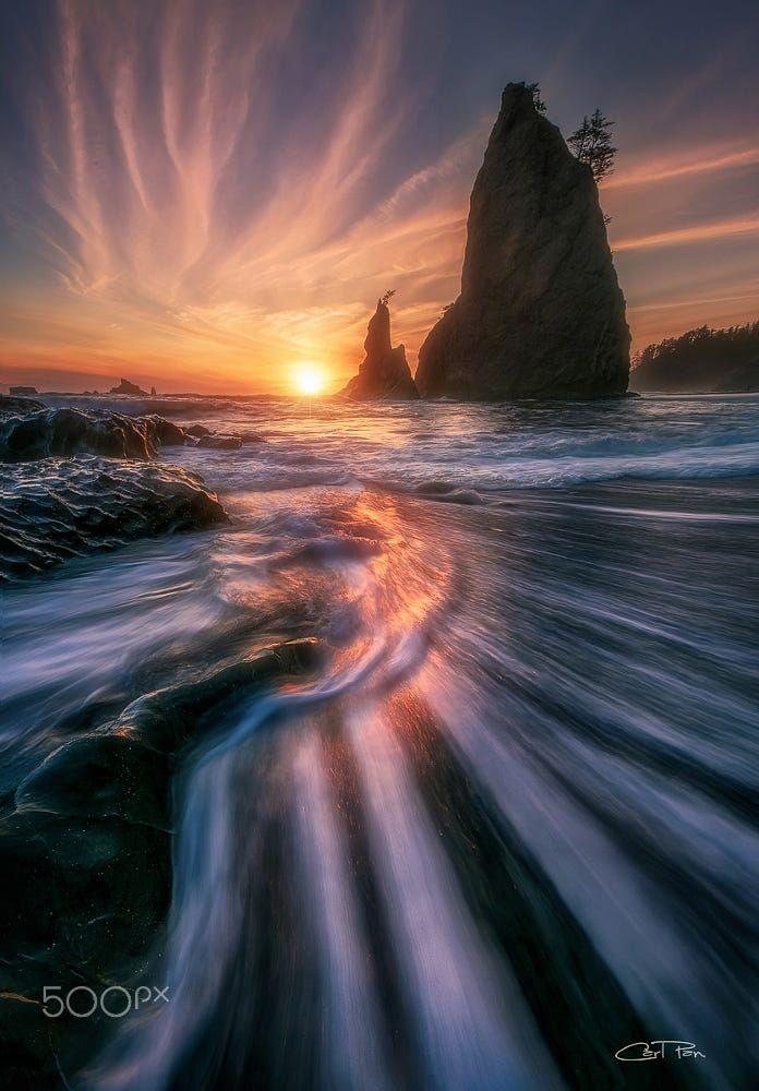 Resplendency (Rialto Beach, Washington) by Carl Pan on 500px