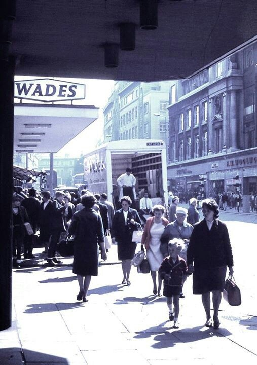 Church Street 1965. Mostly familiar. Don't  remember  Wades though.