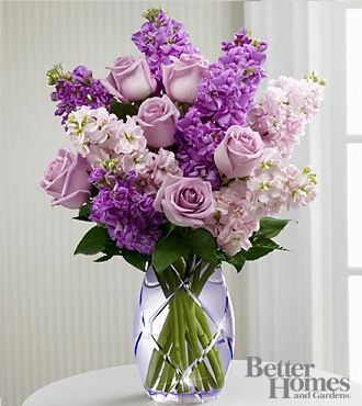 The FTD® Sweet Devotion™ Bouquet by Better Homes and Gardens® - VASE INCLUDED- Deluxe #luckyleafluckyme