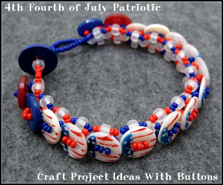 4th fourth of july patriotic craft project ideas with buttons for Button crafts for adults