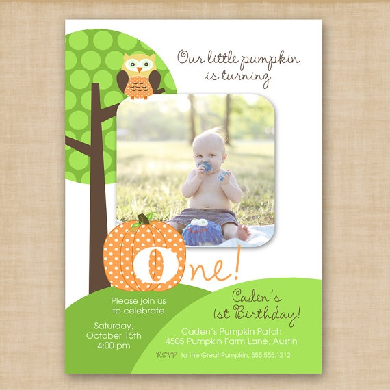 little pumpkin birthday invitation