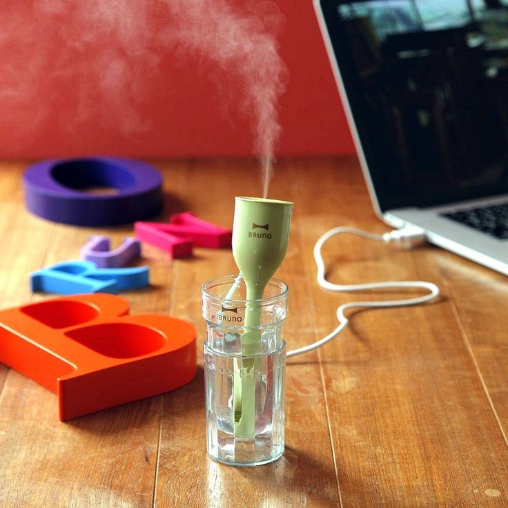 The USB Tulip Ultrasonic Humidifier is designed so that you can get quality air wherever you go.: