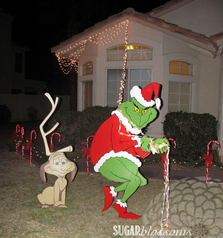 Funny Christmas Inflatable Yard Decorations: Best 25+ Grinch Christmas Lights Ideas On Pinterest