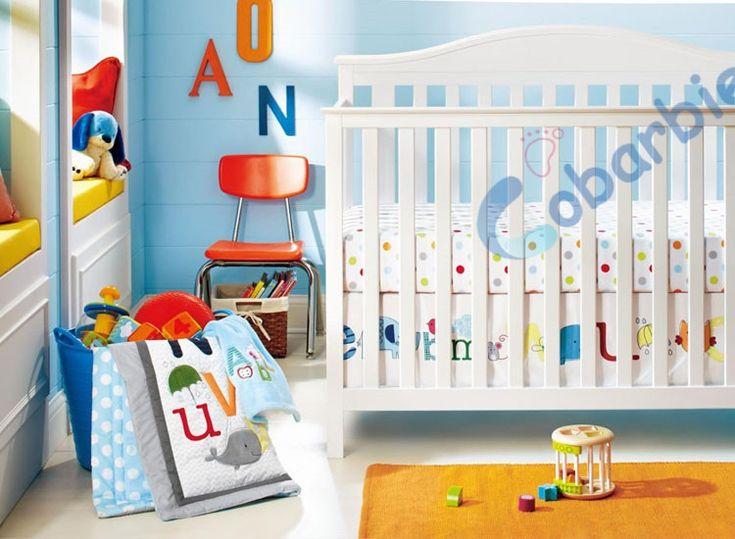 103.99$  Watch here - http://alik3o.worldwells.pw/go.php?t=32474784086 - 8 piece cotton baby crib bedding set ,quality letter newborn baby boy girl bedding ,bedroom nursery cot bedding