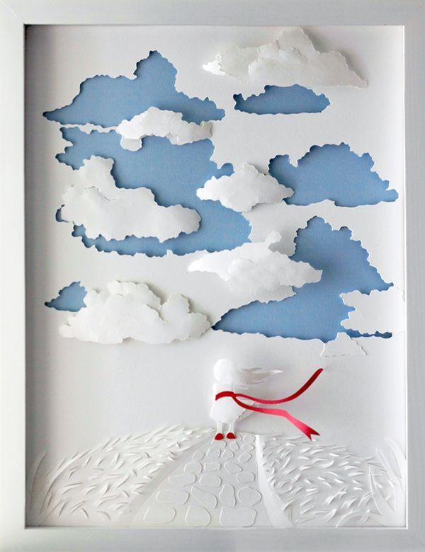 15# Gambar Seni Kertas Quilling Alice Wonderland Karya Marina Adamova