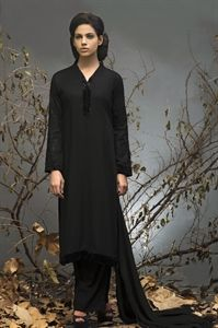 Black Linen Suit with Trousers