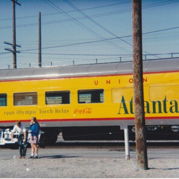 96 Olympic Torch Train In Pocatello Idaho On Its Way To Atlanta
