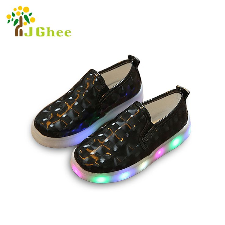 J Ghee 2017 New Fashion Kids Shoes Luminous Sneakers For Boys Girls LED Lighted Up Casual Shoes 3D Style Glowing Shoes EU 21-30 #Affiliate
