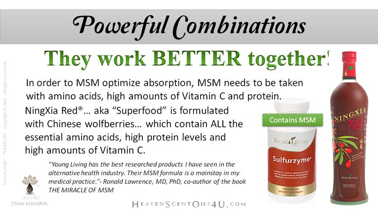 Powerful Combination Sulfurzyme With Msm And Ningxia