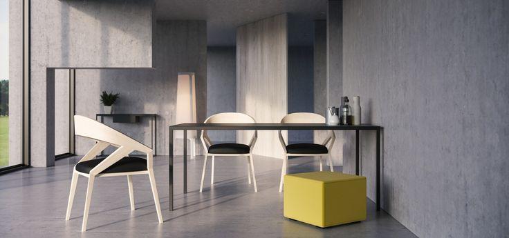 monochromatyczny stół jadalniany simplico ze stali - take me HOME