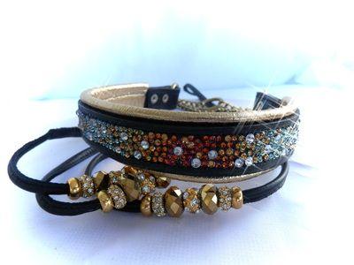Volcano Swarovski Crystal Dog collar