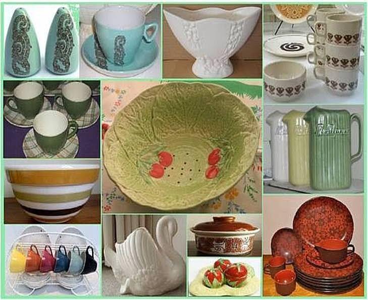 Crown Lynn household pottery ~ Old Wellington Region 28 June 2015
