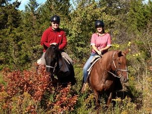 Trail riding in Ontario