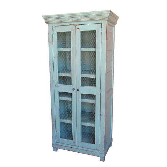 Bookcase Wardrobe China Cupboard Bookshelves by VintageMillWerks