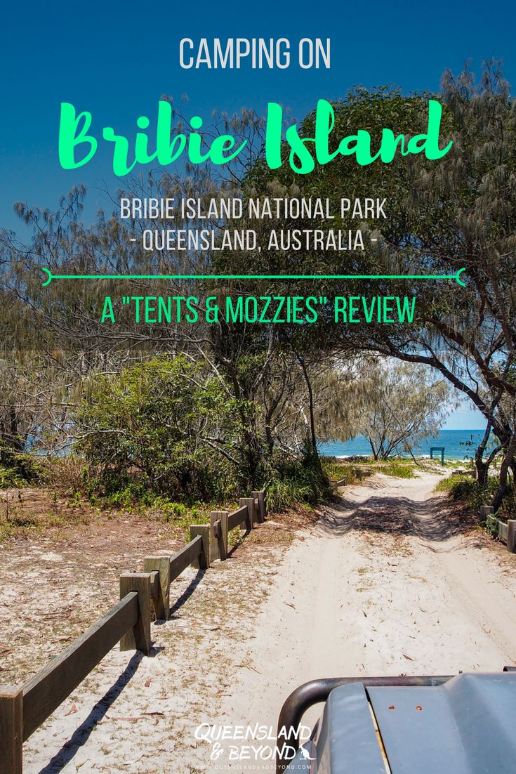 """Bribie Island is only an hour north of Brisbane and camping is one of the best way to see the island. But where should you camp? Here's my """"tents & mozzies"""" review of our experience camping at Bribie, Queensland. 🌐 Queensland & Beyond #bribieisland #queensland #camping #australia #4WD"""