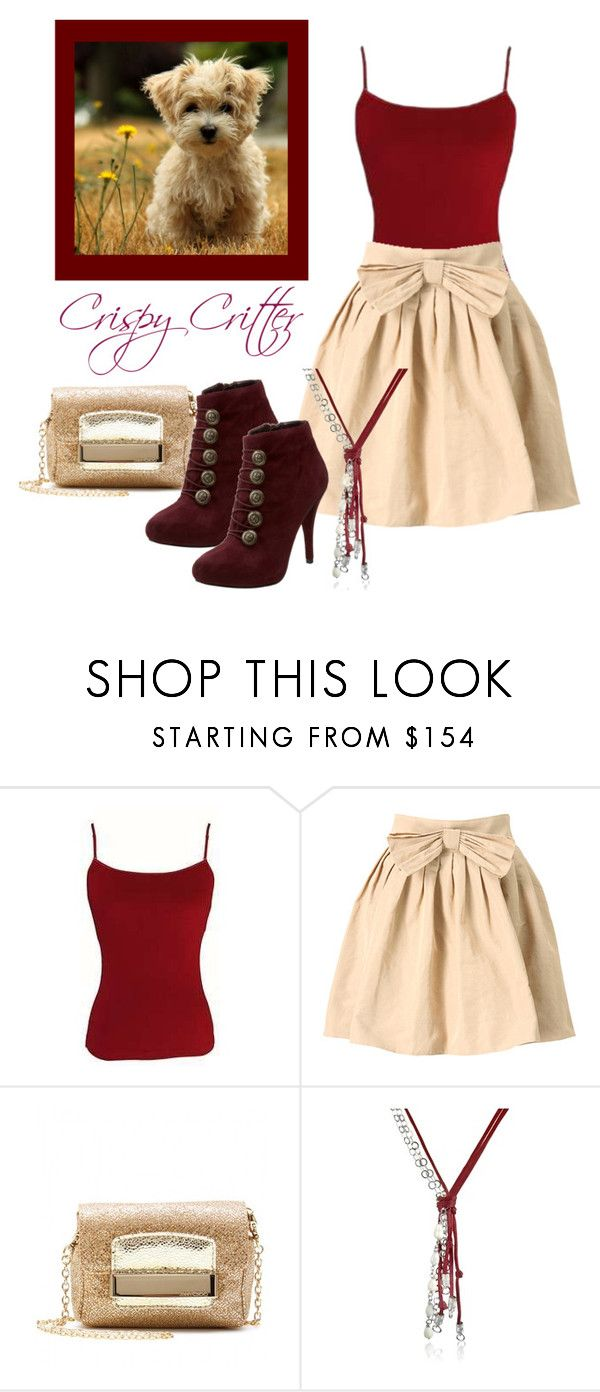 """""""Burgandy and Gold"""" by ccrisp ❤ liked on Polyvore featuring Jimmy Choo, GUESS and Daco Milano"""