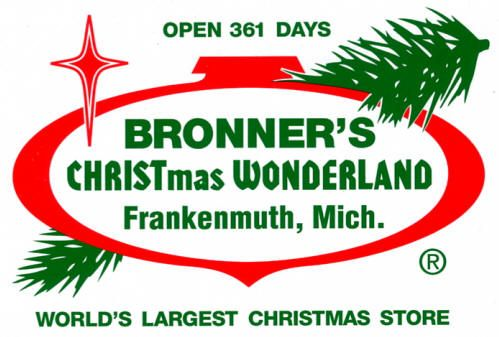 Bronner's CHRISTmas Wonderland. Frankenmuth, Michigan. The world's largest Christmas store.