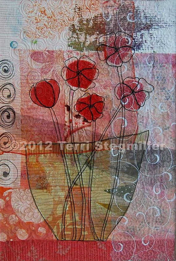 22x15. mini art quilt by Terri Stegmiller
