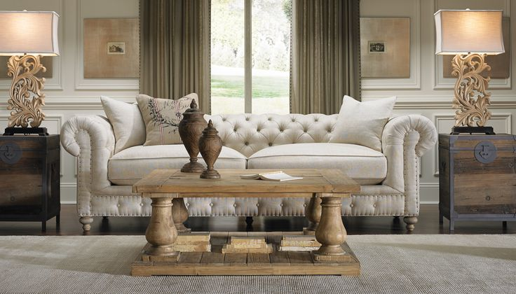 Francis Drake Hand Tailors The Chesterfield Styled Sofa With Belgian Rolls And Tufts Made Comfortable Linen Natural Cotton Bringing Refi