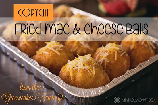 CopyCat Fried Macaroni and Cheese Balls from The Cheesecake Factory