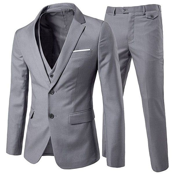 Men's Modern Fit 3-Piece Suit Blazer Jacket Tux Vest & Trousers:... (84,915 KRW) ❤ liked on Polyvore featuring men's fashion, men's clothing, men's apparel, mens tuxedo suit, mens 3pc suits, mens 3 piece suits and mens tuxedos