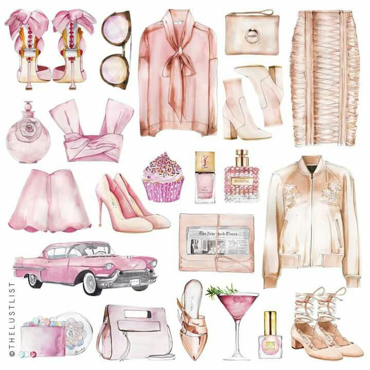 "LINE BOTWIN ""Girly illustrations# #chic #fashion #girly #illustration #thelustlist #lust #list"