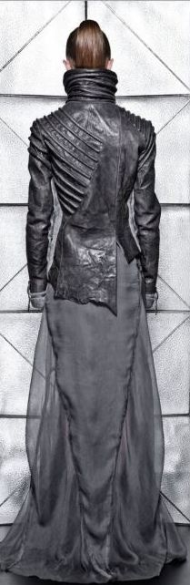 VALERY KOVALSKA FW'12 this is it! it#s rough, heavy, asymetric leather meeting flowing, smoke-like satin. I AM SO IN LOVE I WANT TO SCREAM!!!