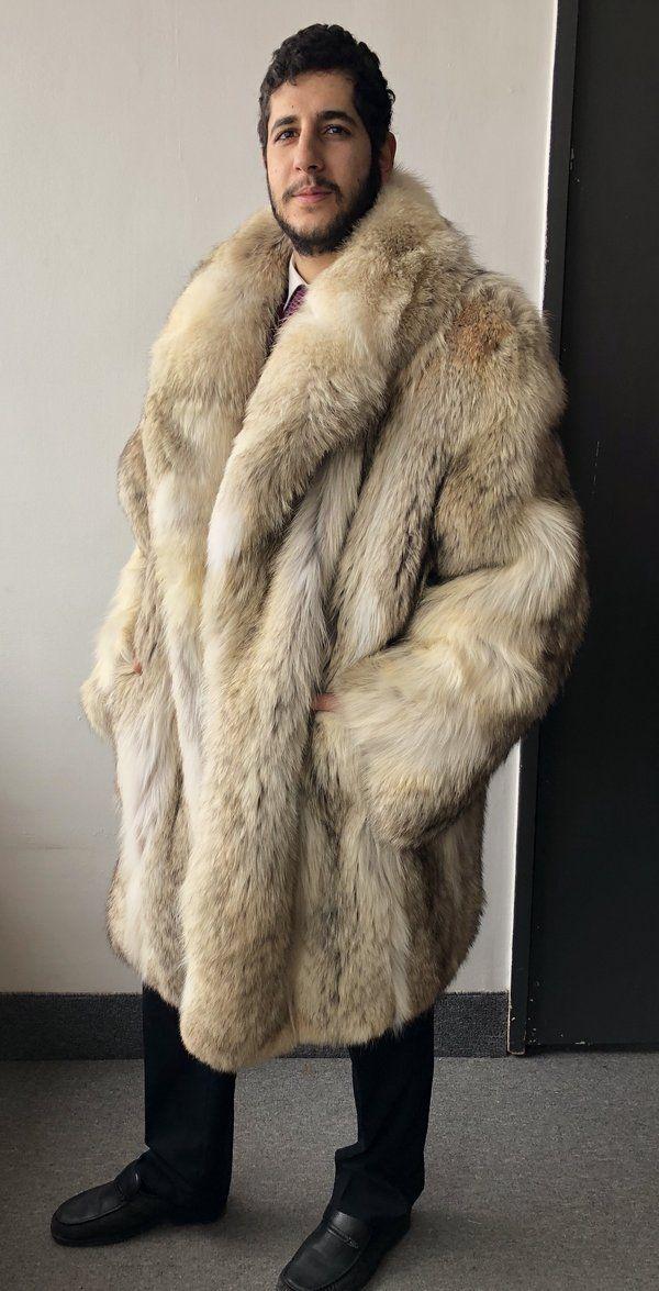 Wolf Fur Coat >> Brand New Refurbished Coyote Wolf Fur Coat Mems 3xl 4xl In 2019