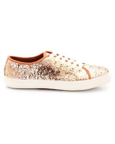 Mademoiselle R Sneakers med paljetter i fargene Svart, Gullfarget innen $GenderDepartment - Sko - La Redoute