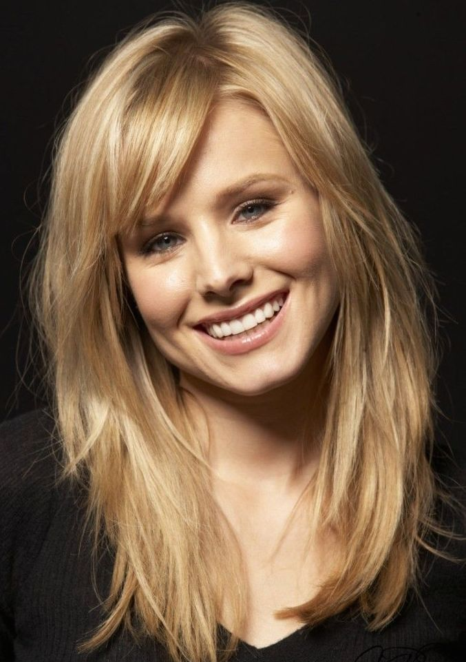 Side-Swept Bangs for a Round Face Shape - Hair World Magazine