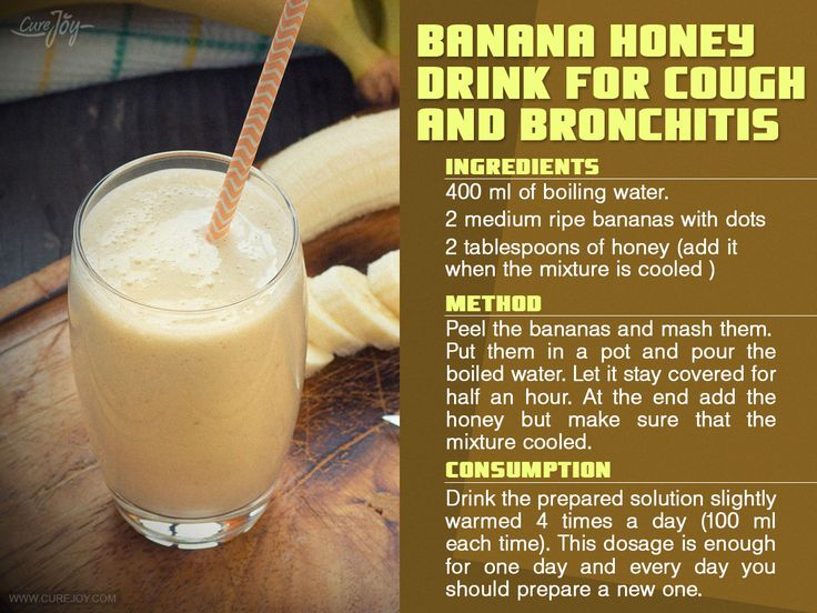 This is a natural solution for curing cough and bronchitis which has been examined and confirmed to have highly effective results against these conditions. It only contains water, honey and bananas and is especially good for curing children (and adults as well). Recipe Video