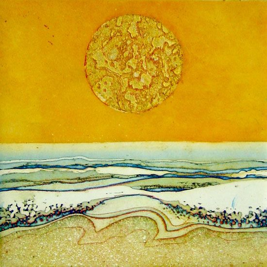 Golden Summer Sun SOLD by Brenda Hartill RE available for sale from Saffron Gallery