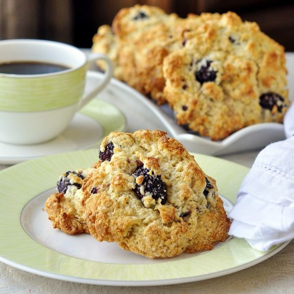 Blackberry Lime Buttermilk Drop Scones - a differently delicious ...