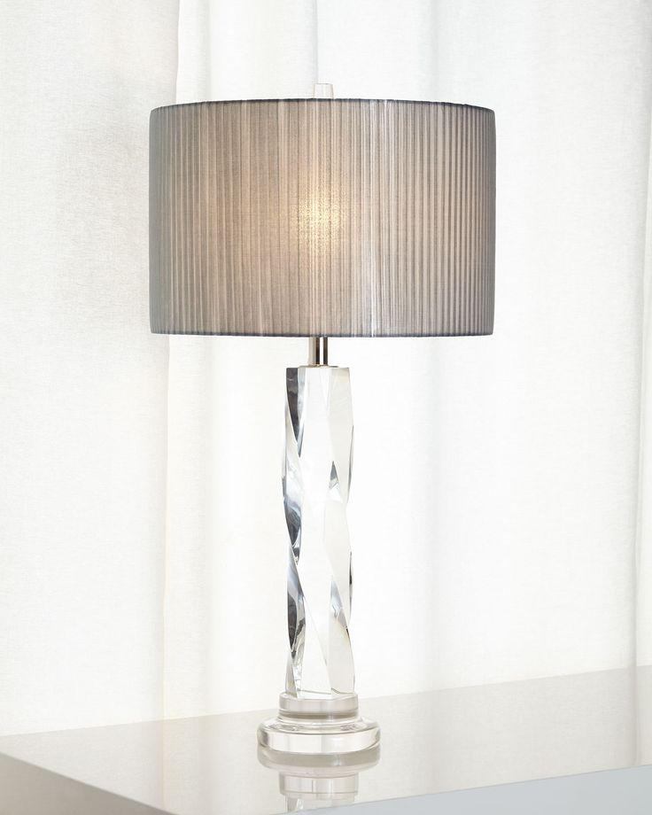 Twisted glass buffet lamp