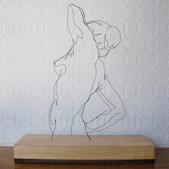 Morning Pose - Gavin Worth: Line Drawings, Artists, Mornings Poses, Art Illustrations, Gavin Worth, Inspiration, Figures Drawings, Wire Art, Wire Sculptures