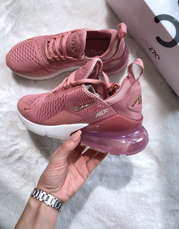 b9045f591989 Womens Nike Air Max 270 Made with SWAROVSKI® Crystals Selected Style  Dust  Rose