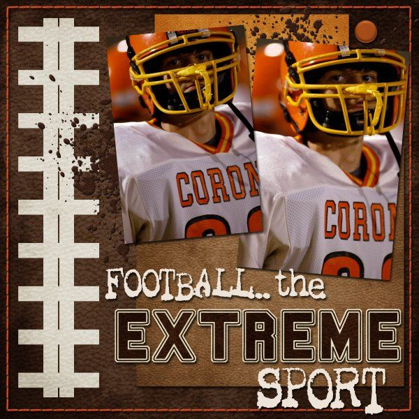 football the extreme sport scrapbook com love the laces at the