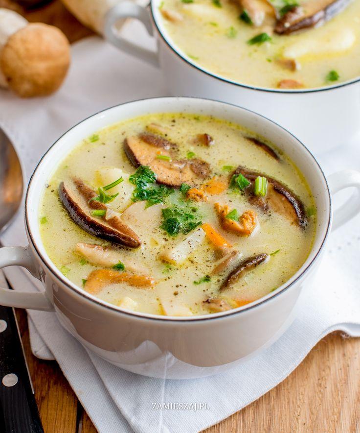 Mushroom soup with gnocci