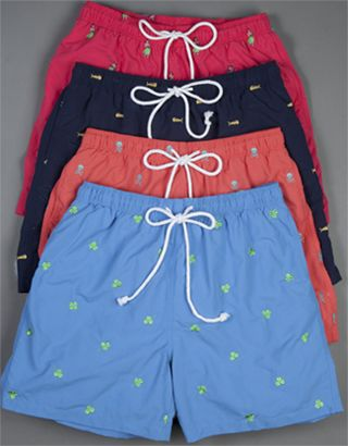 Preppy Must Have | J.McLaughlin Swim Trunks, Men's Collection, Spring 2010
