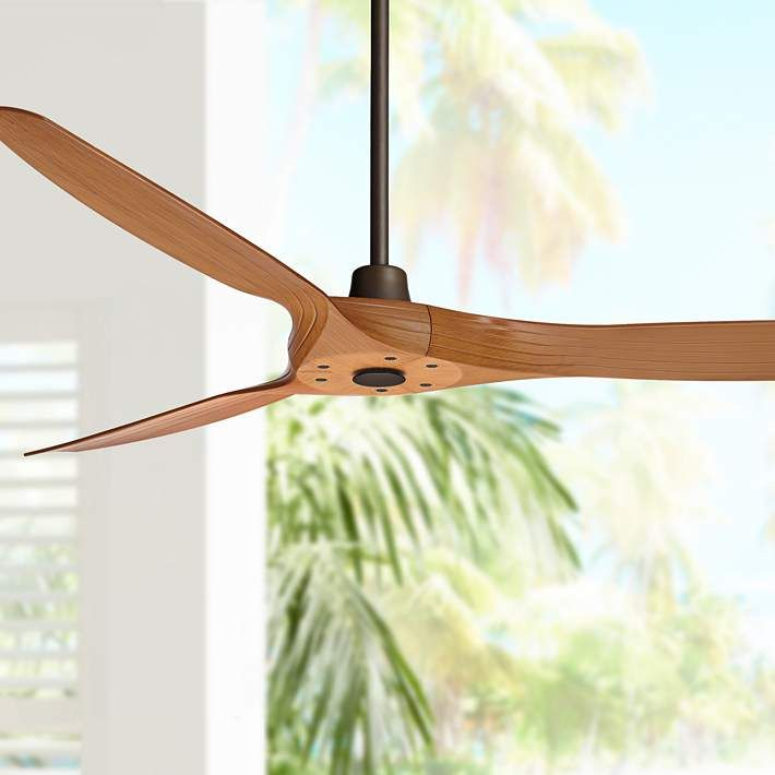 60 Aireon Bronze And Walnut Damp Rated Ceiling Fan 39g19