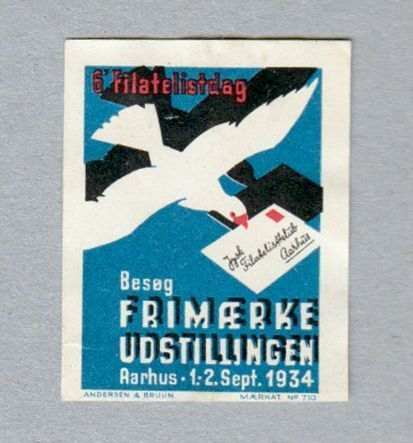 This bird is carrying a message to stamp collectors: Visit