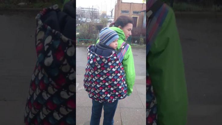 Okrycie na nosidło lub chustę - noszenie na plecach / spacer