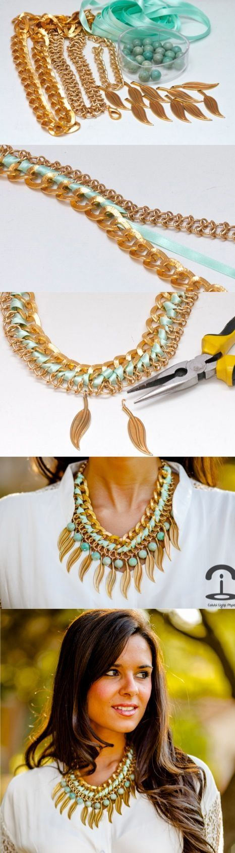 DIY necklace - minus the feathers