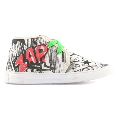 Stella McCartney Kids - Canvas trainers with elasticated shoe laces